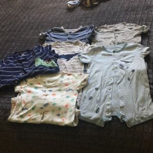18 month short sleeve rompers